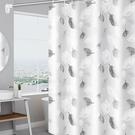 浴簾 衛生間洗澡浴簾隔斷免打孔窗簾套裝淋...