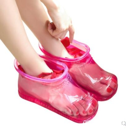 倍喜多泡腳桶足浴盆女洗腳家用按摩塑料腳盆足浴鞋泡腳鞋泡腳神器 優拓