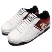 Royal Elastics 休閒鞋 Icon 白 紅 金邊 無鞋帶設計 皮革鞋面 男鞋【PUMP306】 02074013