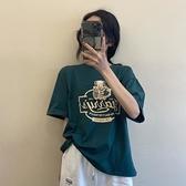 短袖T恤 春夏季2021年新款韓版寬松網紅ins短袖日系T恤女洋氣打底衫上衣潮