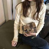 復古格紋鎖釦鍊條包 CC KOREA ~ Q20637