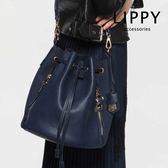 LIPPY Morgan 摩根 - 深藍  Bucket 水桶包