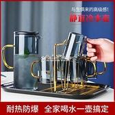 梵師冷水壺玻璃耐高溫涼杯玻璃水壺大容量涼水壺家用水壺水杯套裝 快速出貨
