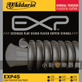 【缺貨】D'Addario EXP45頂級中張力古典吉他弦(28-44)【古典弦專賣店/EXP-45/尼龍弦/DAddario】