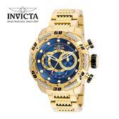 【INVICTA】新一代極致繩索腕錶 鋼鍊款 52mm - 金藍款