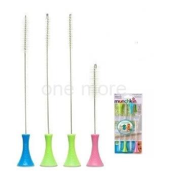 【one more 生活館】美國Munchkin Cleaning Brush Set 站立式吸管刷/奶嘴刷 四隻裝套裝