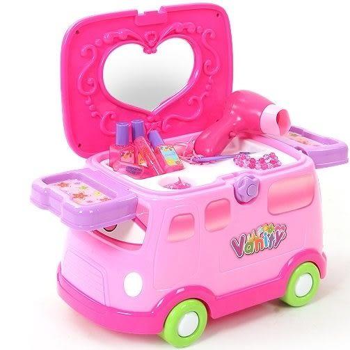*粉粉寶貝玩具*2016最新款~奇騎樂靓麗梳妝台~多功能家家酒玩具~還可當滑步車唷