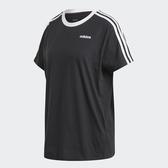 Adidas Essentials女款黑色男友風短袖上衣-NO.FN5776