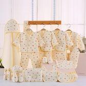 新生兒禮盒套裝用品0-3個月寶寶初生秋冬季棉質嬰兒衣服滿月禮物【完美生活館】