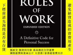 二手書博民逛書店The罕見Rules Of Work Expanded Edition: A Definitive Code Fo