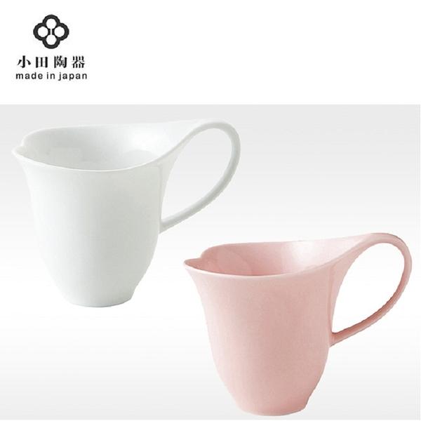 日本陶瓷【小田陶器】心型馬克杯 300cc 粉紅 / 白色 咖啡杯 陶瓷杯 愛心對杯 鬱金香茶杯水杯