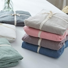 日式和風水洗棉做舊復古全棉純棉嬰兒A類床單被套面料布匹棉布料 【快速出貨】