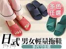 日式男女輕量拖鞋(多尺寸任選)...