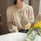 長袖碎花襯衫~長袖娃娃衫~851#時尚碎...