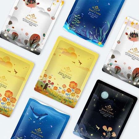 韓國 Jewel Crown星空系列面膜(單片) 25g 面膜 補水 舒緩 亮白