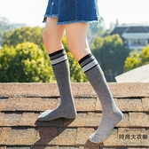 小腿襪女純棉堆堆襪子及膝襪半腿襪長襪春秋【時尚大衣櫥】