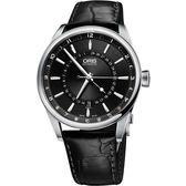 ORIS 豪利時 Artix 指針式月亮周期機械手錶-黑/42mm 0176176914054-0752181FC