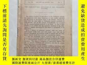 二手書博民逛書店罕見英文原版1916年菲律賓農業調查Y218876 出版1916