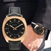 GUCCI Black Dial 錶盤G字樣玫瑰金黑面真皮腕錶/41mm YA142309 熱賣中!