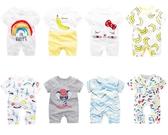 嬰兒短袖連體衣純棉寶寶夏裝睡衣服哈衣
