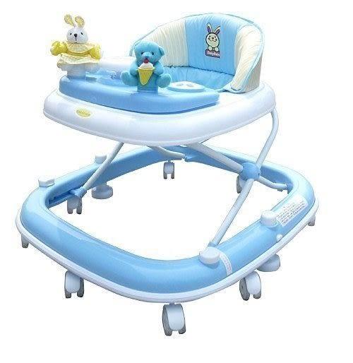 *粉粉寶貝玩具*MONARCH-BabyBabe豪華靜音避震學步車(卡其色/藍色)~玩偶方向盤