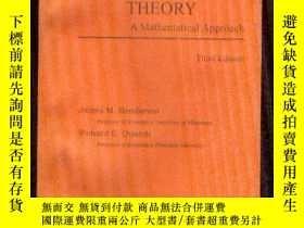 二手書博民逛書店英文版:MICROECONOMIC罕見THEORY A Math
