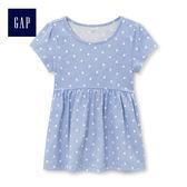 Gap女嬰幼童 童趣精選印花短袖上衣 430143-淺色波點
