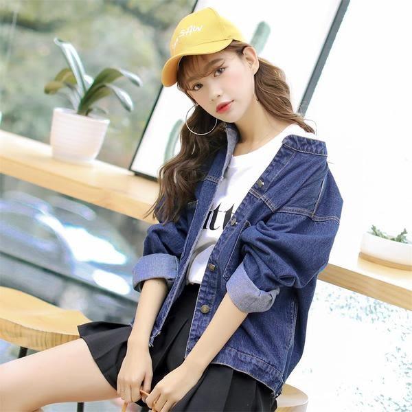【GZ3E1】牛仔外套 韓國寬鬆顯瘦立領大口袋修身百搭短版外套 夾克上衣