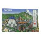 【收藏天地】台灣紀念品*溫度計冰箱貼-台北風景