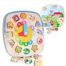 木製玩具 木質對應磁鐵兒童學習時鐘玩具