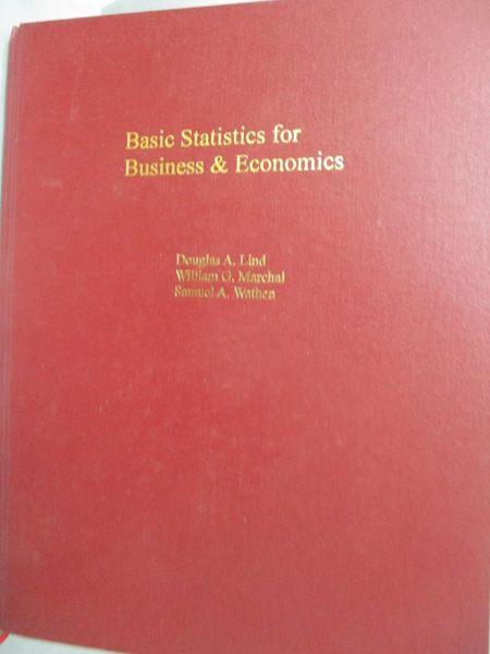 【書寶二手書T2/大學商學_YGN】Basic Statistics for Business and Economic