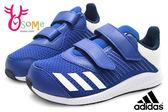 adidas小童運動鞋 FortaRun CF I 魔鬼氈 輕量慢跑鞋P9308#藍◆OSOME奧森童鞋/小朋友