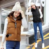 馬甲 秋冬季新款韓版修身羽絨棉馬甲女短款加厚立領棉背心外套 潮流小鋪