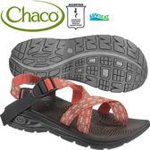 Chaco EZW02-HB40緹花紅 女冒險旅遊涼鞋-ZVolv2夾腳款