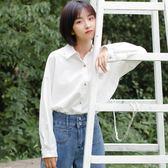 白襯衣2018新款秋季長袖chic早秋上衣韓版寬鬆學生ins白襯衫女潮