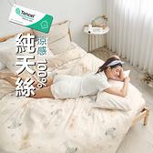 #TCL23#奧地利100%TENCEL涼感40支純天絲6尺雙人加大床包被套四件組(含枕套)