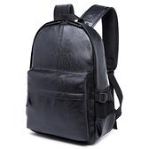 後背包-皮革韓版旅行簡約首選男雙肩包3色73in14【時尚巴黎】