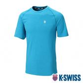 【超取】K-SWISS PF Logo Tee排汗T恤-男-藍