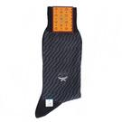 MCM 斜條紋保暖紳士棉長襪(灰藍色)9...