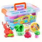 兒童玩具 超輕黏土24色無毒橡皮泥水晶彩...