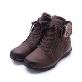 德國GABOR 防潑水磨砂革絨毛短靴 咖 96.956.29 女鞋