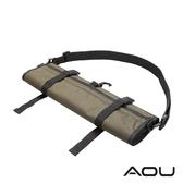 AOU YKK配件 台灣製 可斜揹 捲式衣物收納袋 衣物袋(綠)66-031D3