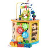 兒童積木玩具 0-1-2-3周歲女男孩嬰幼兒八合一繞珠益智力寶寶啟蒙WY【端午節免運限時八折】