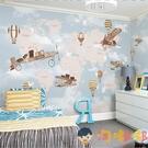 兒童房壁紙男女孩幼稚園臥室背景墻紙卡通墻布【淘嘟嘟】