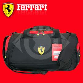 TF003B 義大利 超跑 Ferrari 法拉利 旅行袋 黑色 防潑水 休閒袋 旅遊袋 行李袋 尾牙 年終 禮品 禮盒