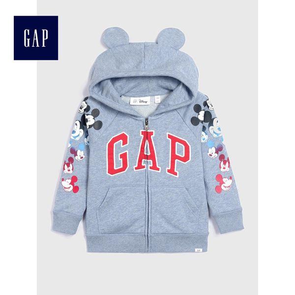 Gap男嬰幼童 Logo連帽長袖休閒外套 468394-淺藍色