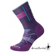 Smartwool 女 PhD戶外中級減震印花 中長襪『山嵐紫』SW000768 美國製|保暖襪|登山襪|運動襪