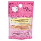 〔小禮堂〕Hello Kitty 造型鐵製髮夾組《3入.粉黃.點點》夾子.髮飾.彈力夾.鴨嘴夾 4589932-60206