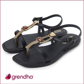 GRENDHA 時尚女王寶石涼鞋-黑色