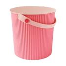 【促銷】日本優秀設計獎賞HACHIMAN時尚L型10公升收納桶(粉紅色系)
